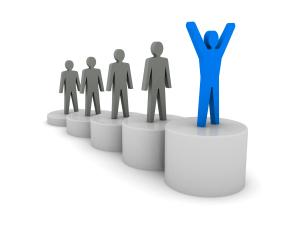 Steps to success. Ladder of success. Concept 3D illustration.